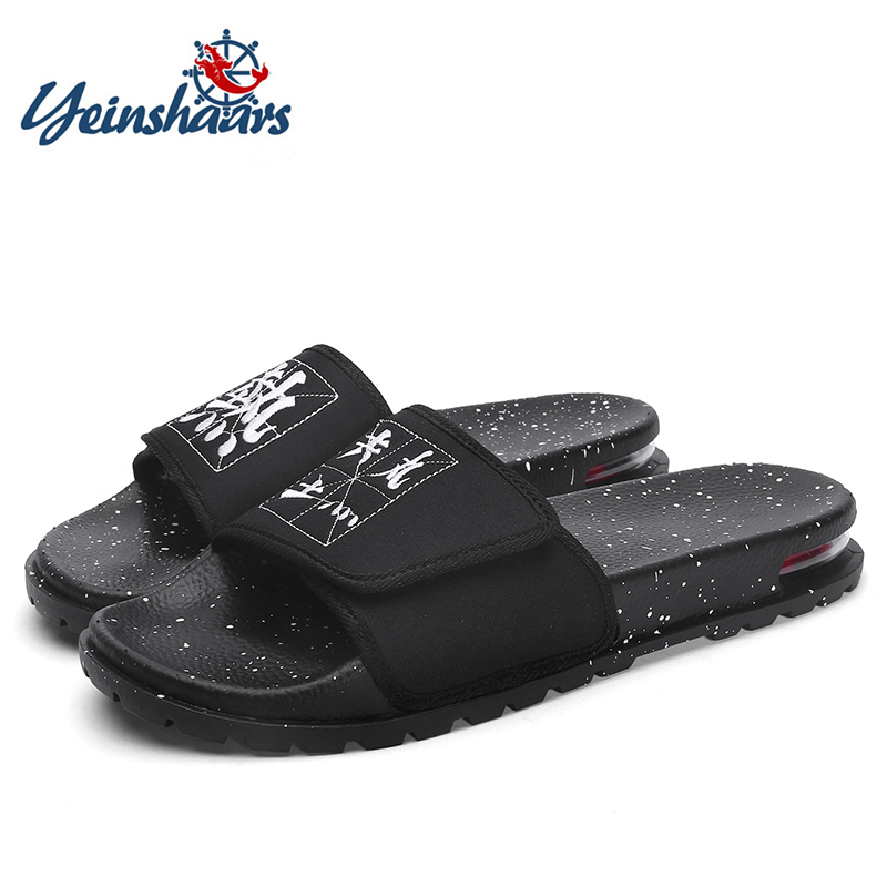 YEINSHAARS New Air Cushion Sandal Men's Sandals Fashion Men Slides Outdoor Sport Sandals Men Slipper Flat Shoes Beach Slippers