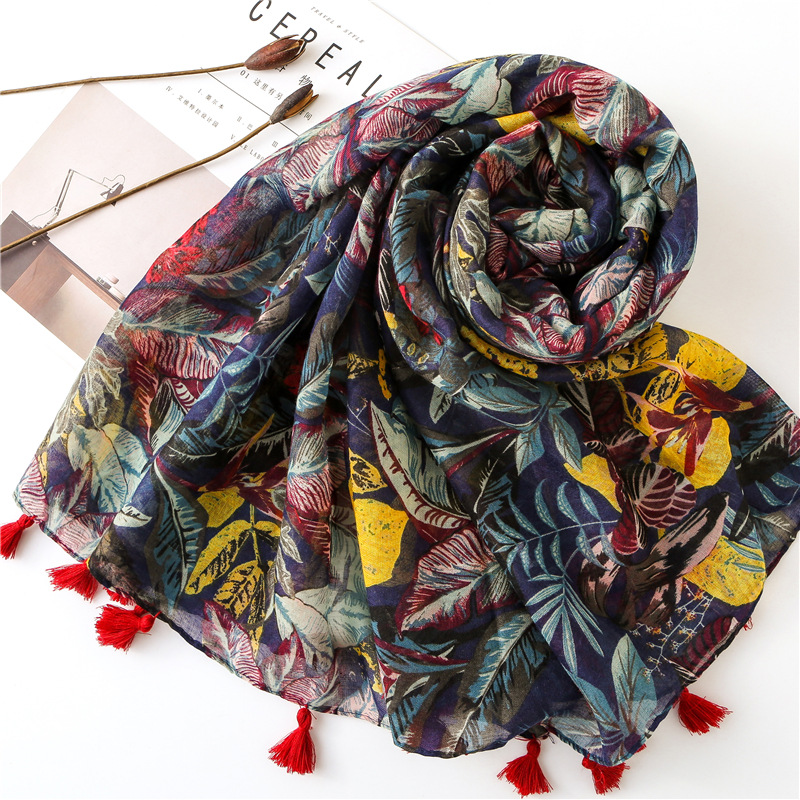 2019 Women Luxury Brand Viscose Scarf African Ethnic Floral Long Shawl Large Size Warm Pashmina Stole Wrap Neck Headband Hijab