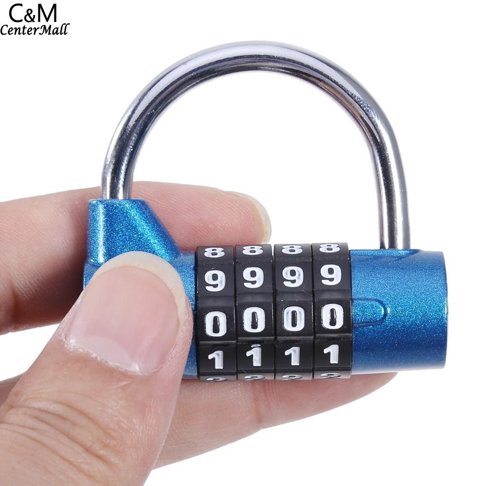 Security Alarm Anti-theft Button Combination Padlock Digit Push Password Lock For Gym Locker Drawer Cabinet Door Diy Hardware Anti-theft Lock Elegant And Sturdy Package
