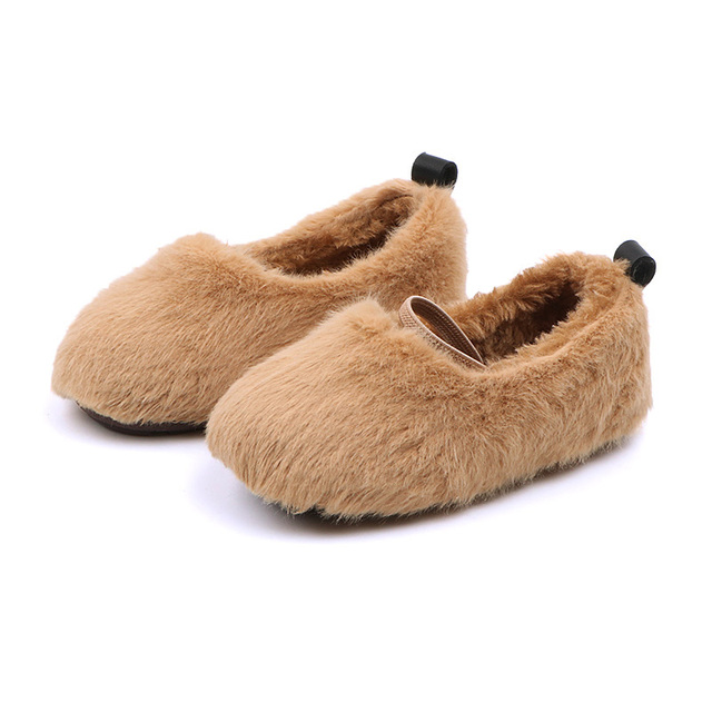 Winter 2018 New Girls'Shoes Butterfly Knot Princess kids Warm Lazy Shoes Cotton Shoes Super soft and comfortable 1-3 years old Girl's Shoes