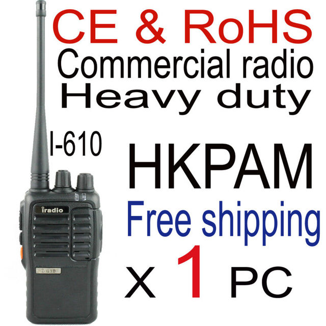 iradio 610 best walkie talkie uhf handheld 2 way radio station portable with earpiece for kenwood walkie talkie 3207 connecto