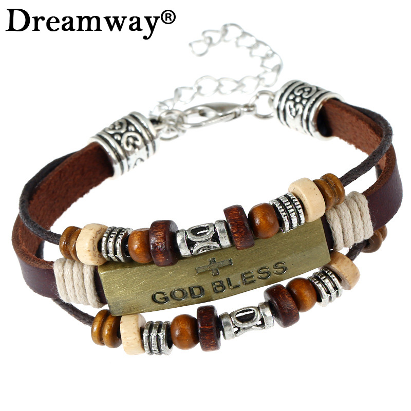 Wolf Animal Charms Leather Bracelet Jewelry | Fashion