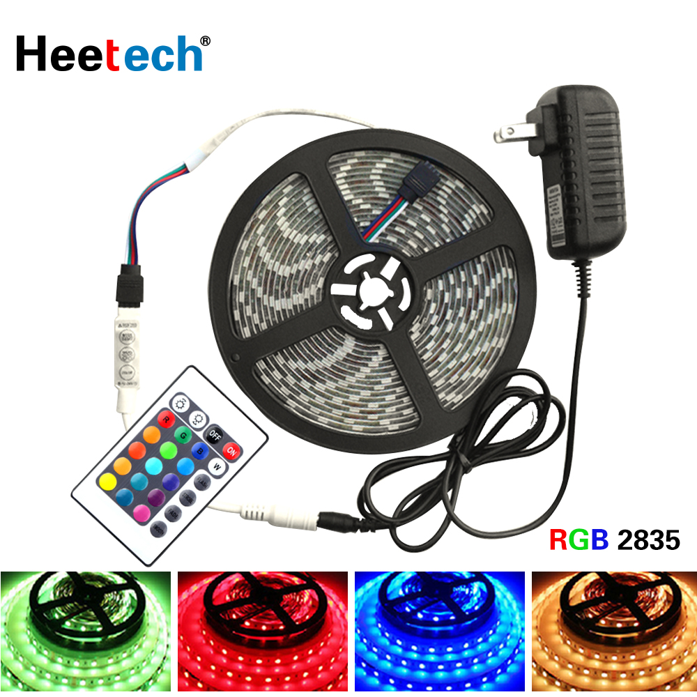 5 Meter 300Leds RGB Led Strip Light waterproof <font><b>2835</b></font> DC12V 60Leds/M Flexible Lighting Ribbon Tape Warm White Blue Red Strip image