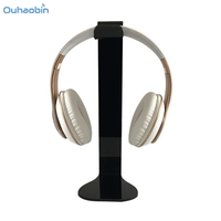 Ouhaobin Black Universal Acrylic Headphone Stand Headset Holder Display Hanger For Sony AKG And Others High