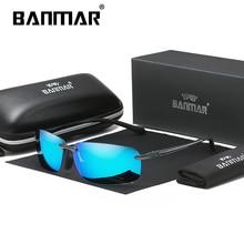 BANMAR Aluminum Polarized Sunglasses Rimless Men Polarized Sun Glasses Square Goggle Eyewear Gafas oculos de sol masculino стоимость