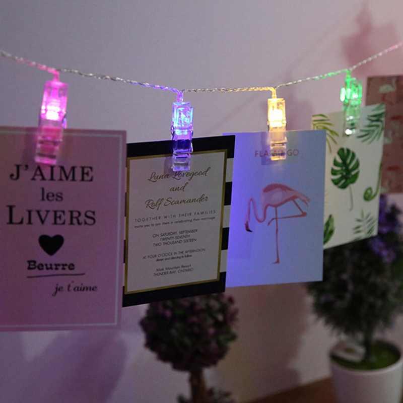 LED carte Photo Clips Photo chevilles lumineux chaîne lumière mariage fête saint valentin décoration