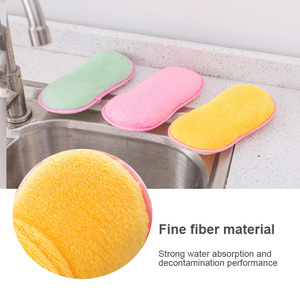 Image 1 - 2018 Schuursponsjes Dubbelzijdig Antibacteriële Schrobben Sponzen Schuursponsje Dish Cleaning DC112