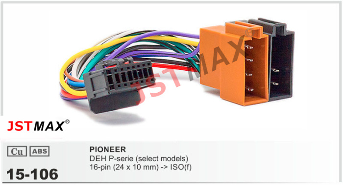 Jstmax15 106 Top Quality Car Iso Harness For Pioneer Deh P