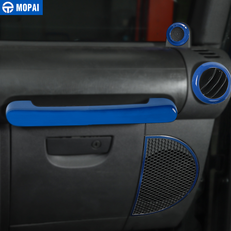 MOPAI voiture tableau de bord volant haut-parleur évent décoration intérieure Kit de couverture pour Jeep Wrangler JK 2007-2010 accessoires de voiture - 5