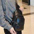 Мода frontier-Новый Корейский Мужчины PU кожаная сумка груди пакет сумка мешок отдыха сумки на ремне креста тела сумки подарок для мужчин