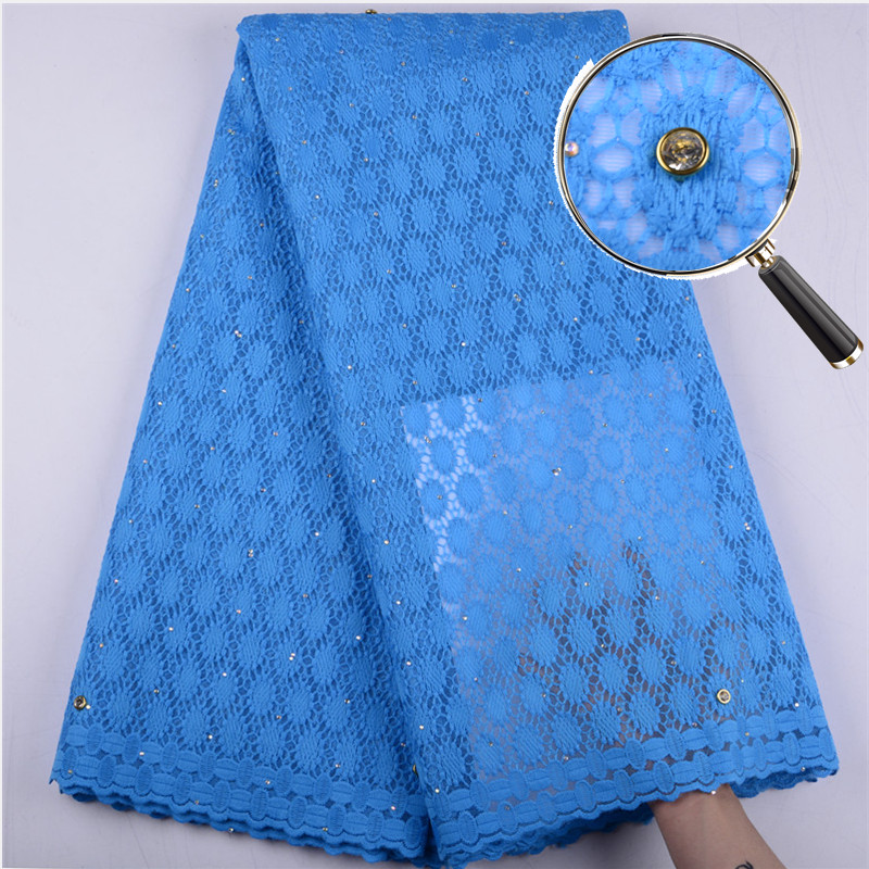 African French Lace Fabric New Coming African Cotton Lace Stones High Quality Milk Silk Lace Fabric A1519-in Lace from Home & Garden    1