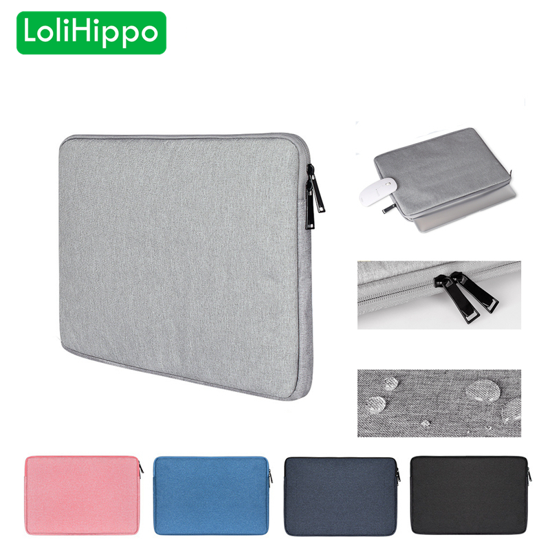 LoliHippo Ultra Light Notebook Liner Sleeve Bag Laptop Protective Cover for Apple Macbook 11.6 13.3 15.4 Inch Dell Thinkpad Sony
