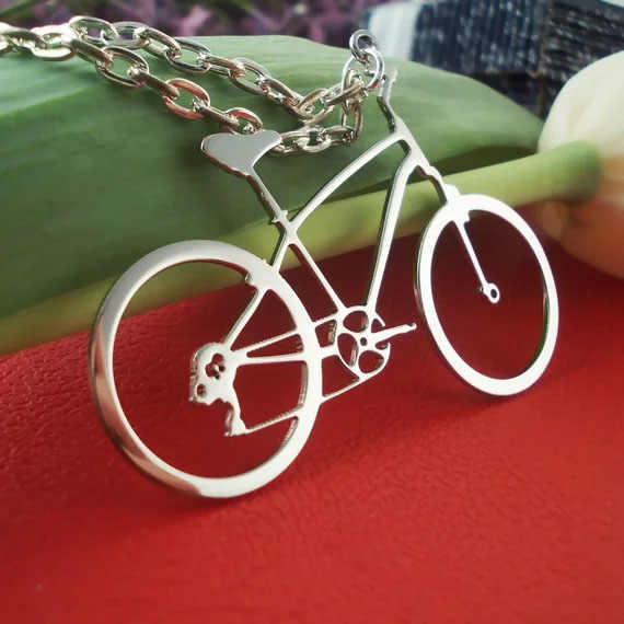 Unique Bike Pendant Necklace 2018 Best Selling Bicycle Link Chain Necklaces Christmas Gift for Children YP3943