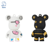 NEW 2019 cartoon violent bear 2.0 usb flash drive thumb pendrive u disk 4gb 8gb 16gb 32GB 64GB free
