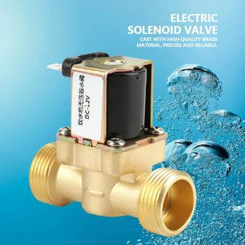 12V Solenoid Valve G3/4 Brass N/C Normally  Electric Solenoid Valve 2 Way Pressure Regulating Valve N/C Solenoid Valve цена 2017