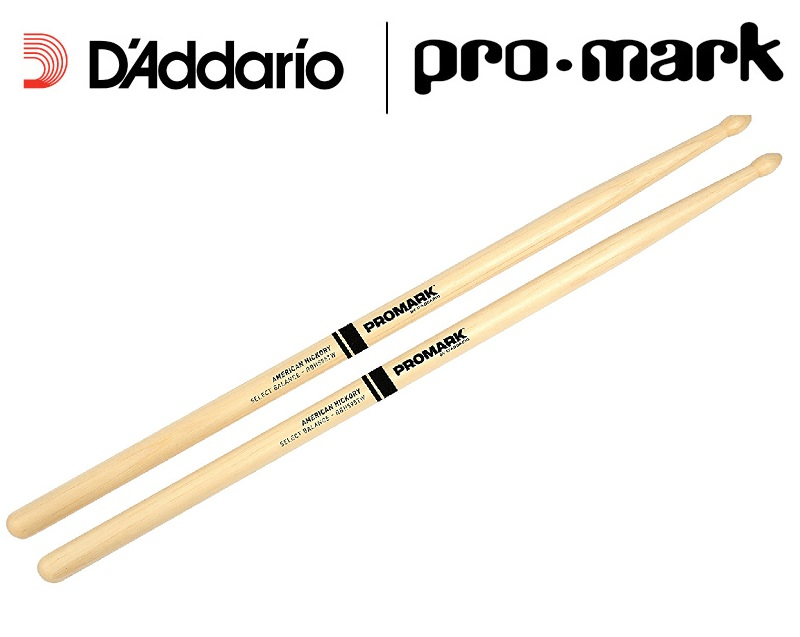 Promark By D'addario Select Balance Forward / Rebound Balance American Hickory Drumsticks 5A / 5B, Wood Tip Tear Drop
