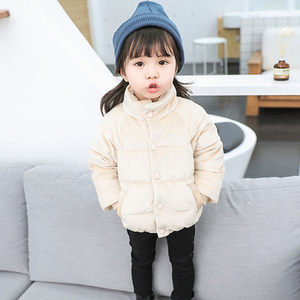 Image 4 - Kids Gold Velvet Down Coat 2018 Winter Baby Girls & Boys Jacket Warm Boys Outerwear Autumn Toddler Kids Clothes 1 2 3 4 5 Years