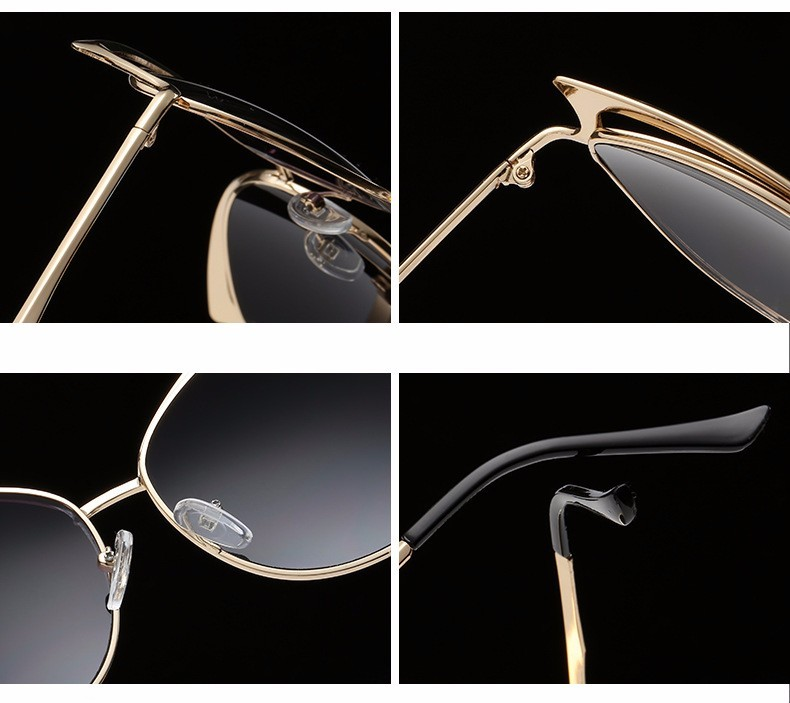 a5a797425 Luxury Cat Eye Óculos De Sol Das Mulheres Designer de Marca Retro Vintage  Óculos De Sol Espelho óculos de Sol Piloto Óculos de Sol Para As Mulheres  Da ...