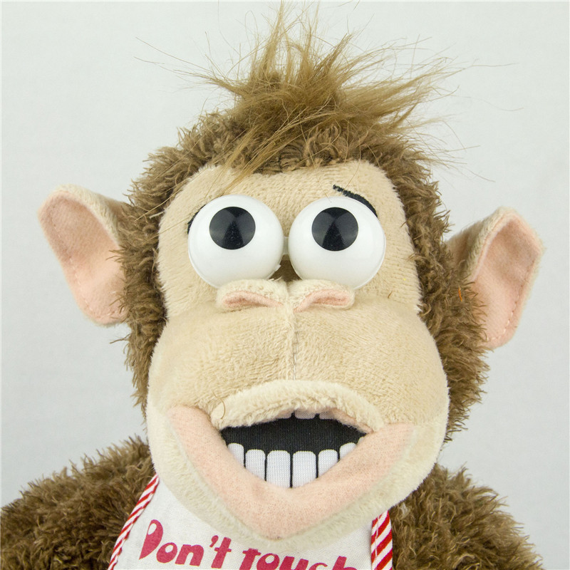 Magnetic Control Standing Monkey Electric Plush Orangutan Toys Gift for Boys Kids Children Take Away Banana Will Jump and Scream 3