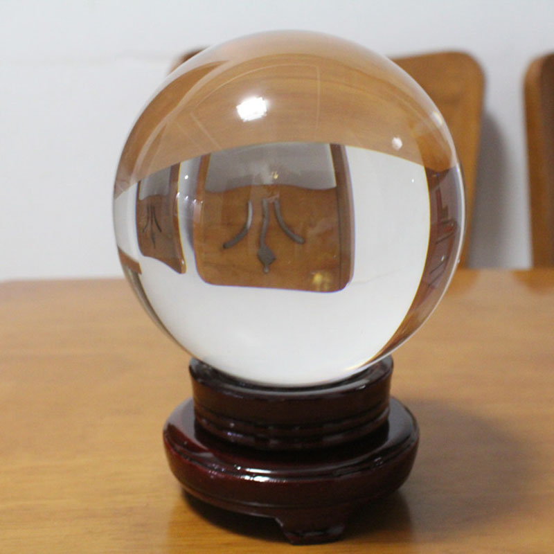 US $5 81 19% OFF|Clear Crystal Ball Fortune Teller Mystical Quartz Ball  Photography Props Tabletop Decor HG99-in Figurines & Miniatures from Home &