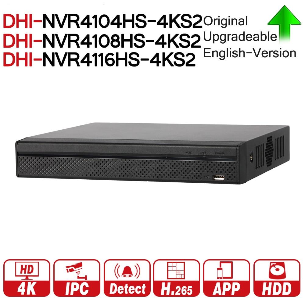 DH NVR4104HS-4KS2 NVR4108HS-4KS2 NVR4116HS-4KS2 Lite NVR 4 8 16 compacto canal 1U 4 K H.265 ONVIF 80 Mbps MAX 8MP resolución
