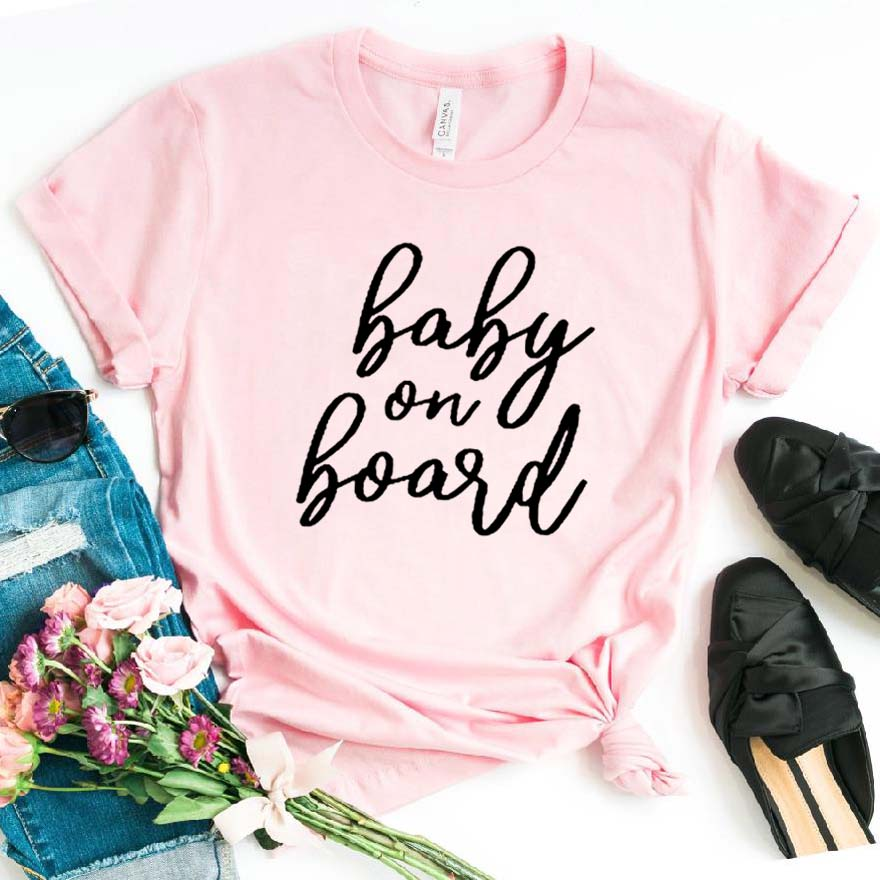 Baby On Board Print Women Tshirt Cotton Casual Funny T Shirt For Lady Girl Top Tee Hipster Drop Ship NA-156