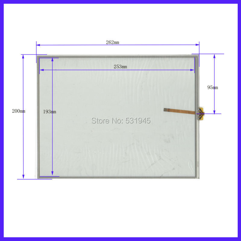 ZhiYuSun New 4 Inch Touch Screen 262mm*200mm    for tble compatible  262*200 Digital use  sensor glass  commercial use zhiyusun new 10 4 inch touch screen 239 189 for industry applications 239mm 189mm 8 lins 47f8104025 r13 commercial use