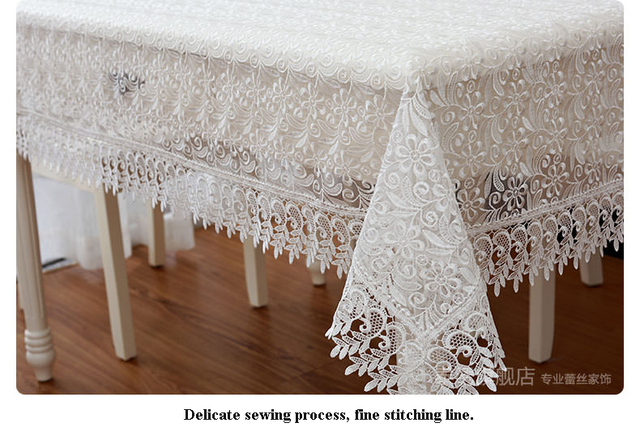 High Quality Hot Sale Elegant 100% Polyester Lace Tablecloths Wedding Table  Linen Cloth Covers Home