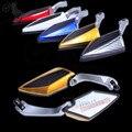 1 par Motocycle espejo retrovisor para yamaha piezas motocross retrovisores 10 MM y 8 MM universal Dirt bike ATV espejo retrovisor