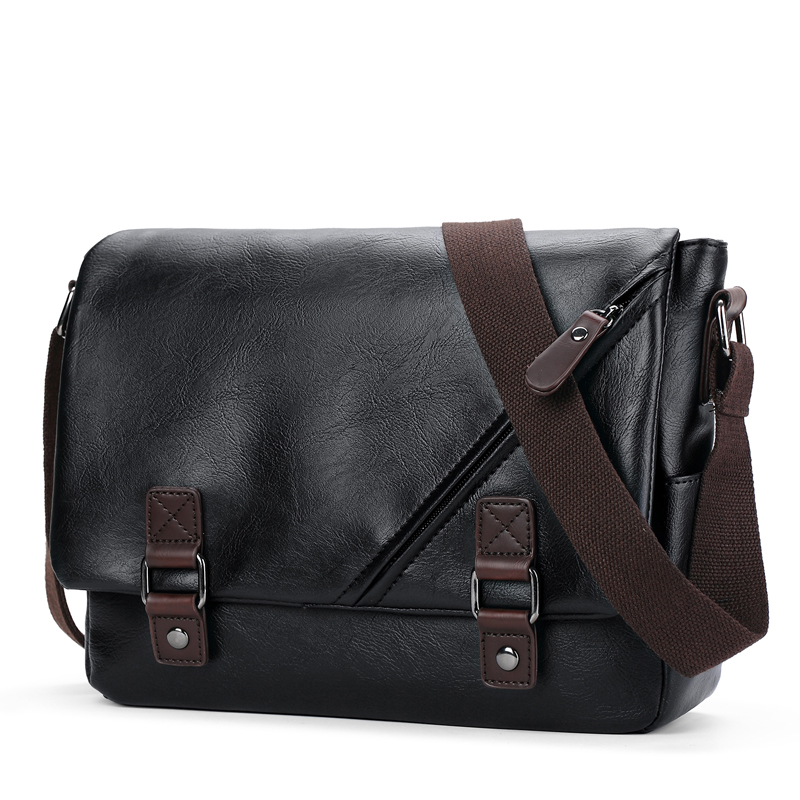 2018 Fashion Genuine Leather Crossbody Bags Business Men Casual Messenger Bag for Travelling Vintage Male Black Shoulder Bag футболка wearcraft premium slim fit printio котейка