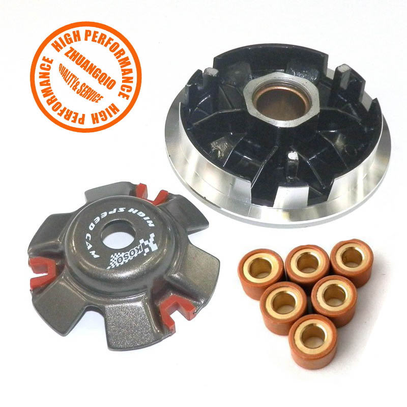 Chinese High Performance Racing Front Clutch Variator With 14 gram Weight Rollers For GY6 150cc 157QMJ Scooter Moped ATVS