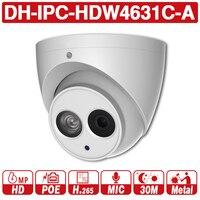 DH IPC HDW4631C A Original 6MP HD IP Camera POE Dome Network Camera Built in MIC CCTV Camera From Dahua IPC HDW4431C A