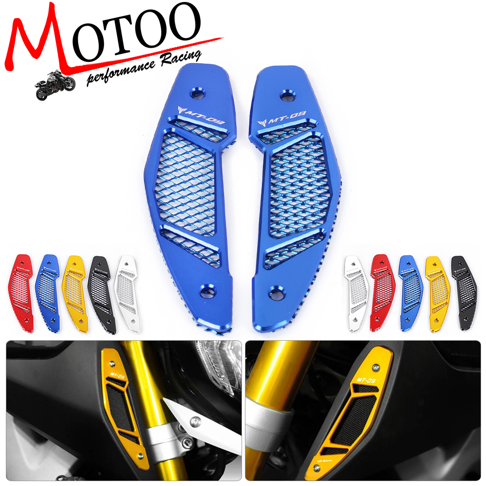 Motoo - free shipping Motorcycle for Yamaha MT 09 MT-09 FZ-09 2013-2016 CNC Air Intake Cover with Mesh Grilles for yamaha mt 09 mt09 2014 2016 motorcycle cnc aluminum air intake covers gold motorcycle accessories free shipping