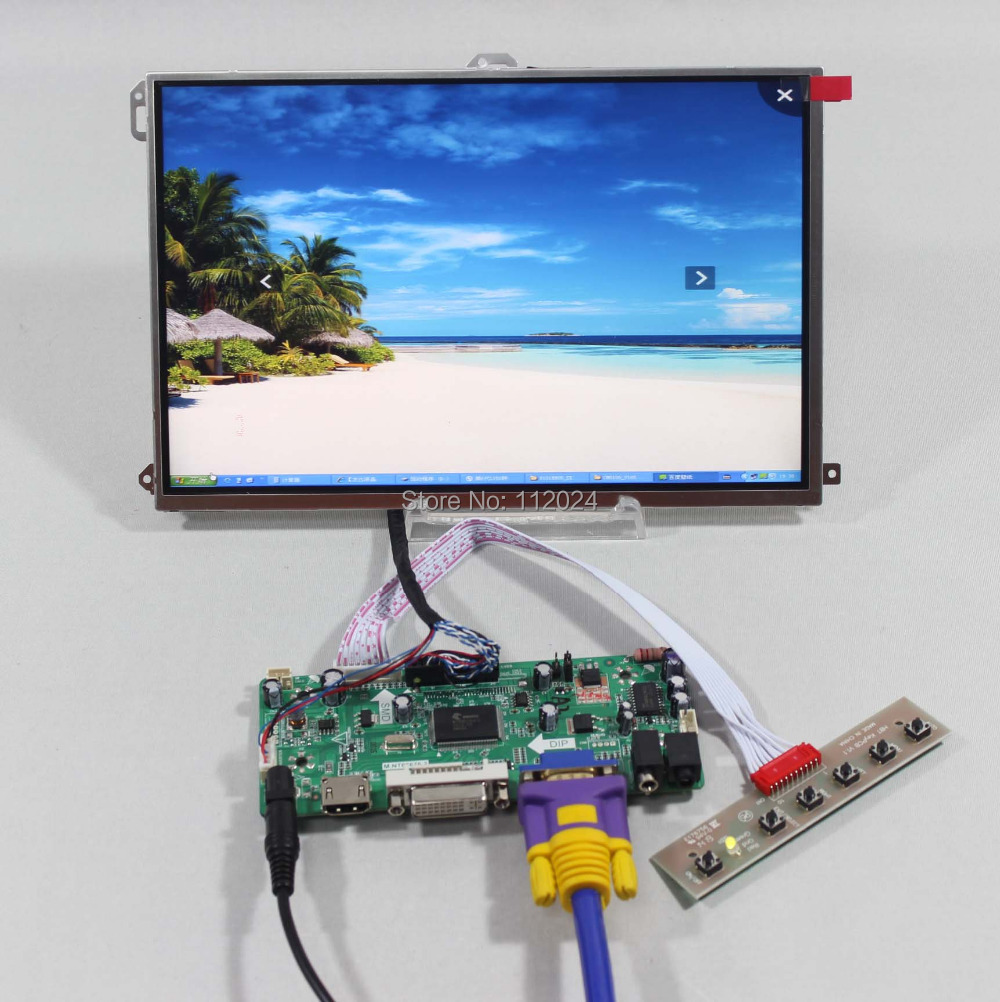 HDMI+VGA+DVI+Audio Controller board NT68676+10.1 LP101WX1-SLP2 1280*800 IPS lcd panelHDMI+VGA+DVI+Audio Controller board NT68676+10.1 LP101WX1-SLP2 1280*800 IPS lcd panel