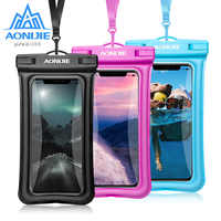 AONIJIE Floatable River Trekking Bags Waterproof Case Dry Cover Mobile Phone Pouch For Swimming Beach Diving Drifting