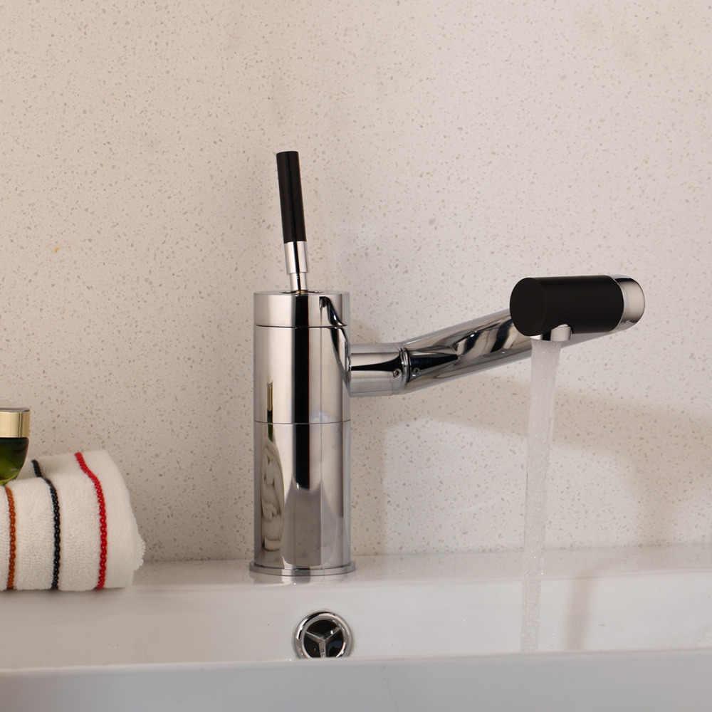 KEMAIDI Baru Khusus Wastafel Dapur Putar 360 Sensor Suhu Chrome Keran Basin Dek Torneira Dapur Mixer Keran 92420A/5