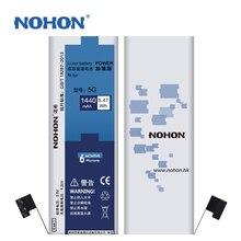 100% Оригинальные NOHON Новые Батареи Для Apple Iphone 5 Батареи Реальная Емкость 1440 мАч + Бесплатная Станков