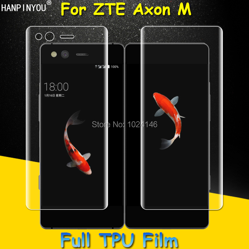 Left / Right Full Coverage Clear Soft TPU Film Screen Protector For ZTE Axon M 5.2