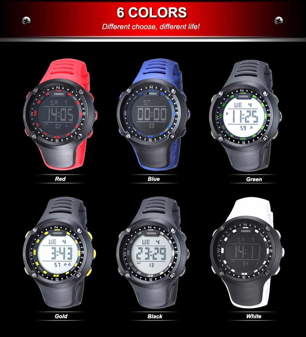 OHSEN Top LED Digital Men\`s Watch Kids Watches Women Sport Clock Child Sports Wrist Watch Electronic for Girl Boy Surprise Gift (43)