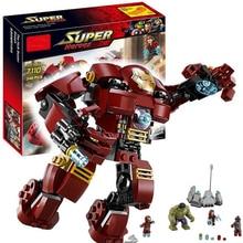248Pcs Legoings Marvel Super Heroes Avengers Model Building kits Ultron Figures Iron Man Hulk Buster Bricks Toy For Boy