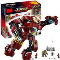 248Pcs Legoings Marvel Super Heroes Avengers Legoings Model Building kits Ultron Figures Iron Man Hulk Buster Bricks Toy For Boy