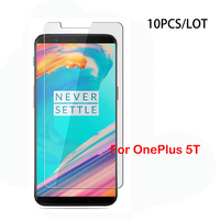 10Pcs Lot For OnePlus 5T 2 5D 0 3mm 9H Premium Clear Tempered Glass Screen Protector