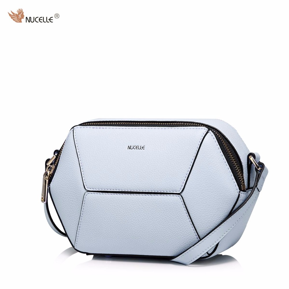 ФОТО NUCELLE New Brand Design Fashion Creative Diamond Geometric Patchwork Cow Leather Women Lady Shoulder Crossbody Bag