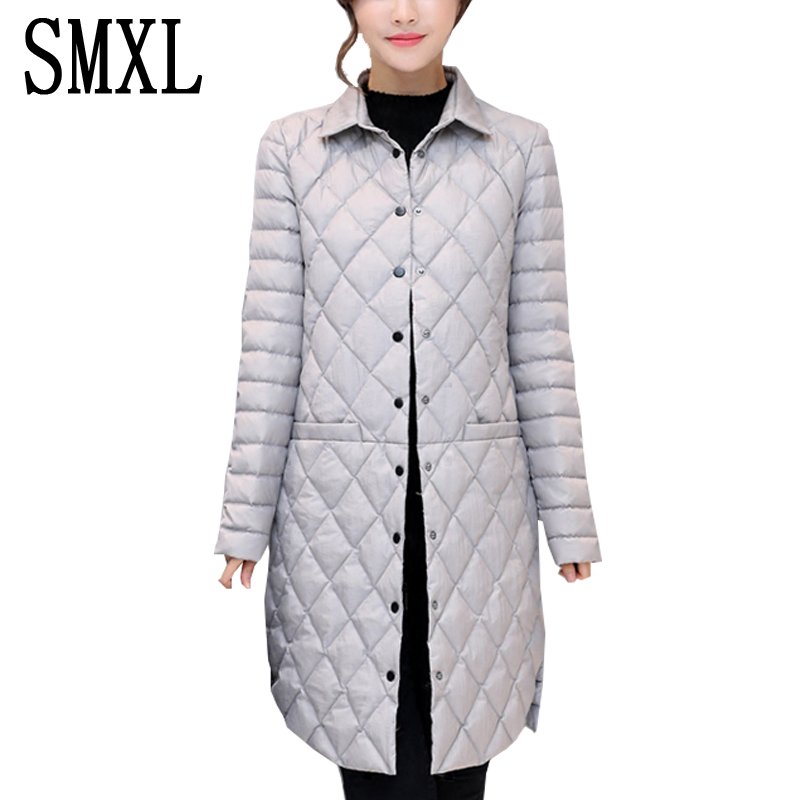 smxl Coat Ultra keep warm white Duck Down Jacket x-Long Female Overcoat women new Slim Solid Jackets Winter Coats Parkas Padded 2017 new winter fashion women down jacket hooded thick super warm medium long female coat long sleeve slim big yards parkas nz18