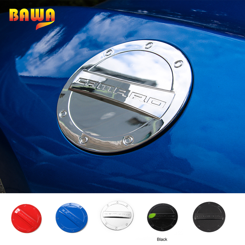 HANGUP ABS Car Door Fuel Tank Cover Protect Trim Exterior Decoration Stickers For Chevrolet Camaro 2017 Up Car Styling цена