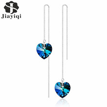 Women's Crystal Heart Drop Earrings
