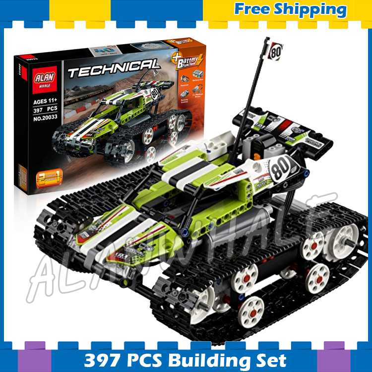 397pcs Techinic 2in1 Remote Controlled RC Tracked Racer 20033 DIY Model Cars Building Kit Blocks Gifts Sets Compatible With lego haptic information in cars