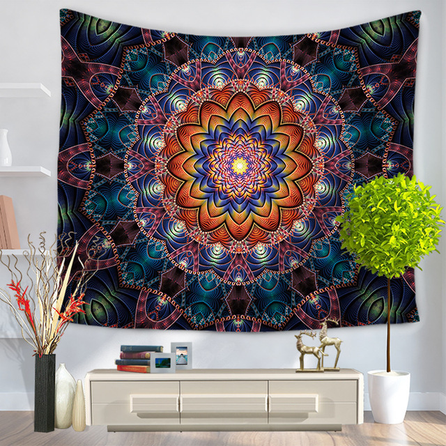 Mandalas Tapestry 3D Printed Endless 150x130cm 230g Beach Mat Towels Tapestry Decoration Wall Hanging Tenture Mural Tapiz Pared