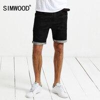 SIMWOOD 2018 D'été Jeans Shorts Hommes Denim Lavé Genou Longueur Mode Noir Spécial Imprimer Toile de Coton Marque Vêtements ND017002