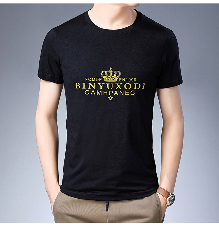 Baishanglinna Spring Summer Short Sleeve Tee Shirt Men Casual O-Neck T-Shirt Men Pure Cotton Top Homme Brand Clothing S - XXXXL 14